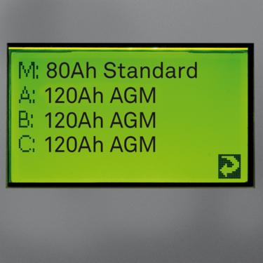 Status for alle batterier