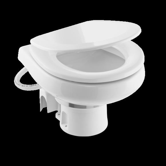 Elektrisk toalett DOMETIC Eltoalett MasterFlush 726012V Saltvann kompakt bolle 9108834285