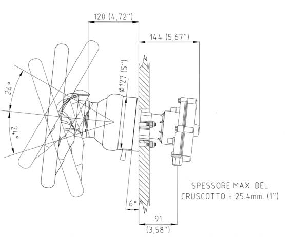 Styresnekke ULTRAFLEX T81FC Til M66 kabel for tiltmekanisme X52 1002481
