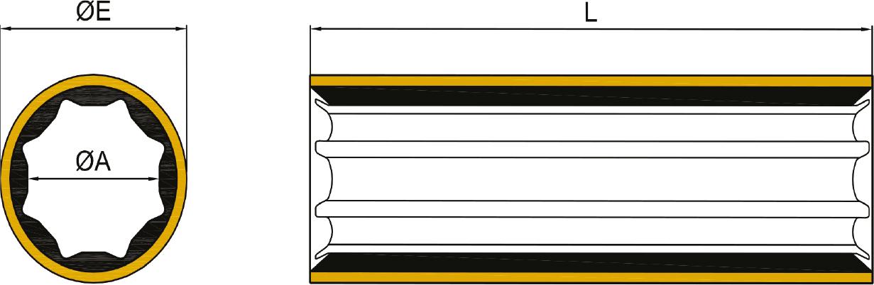 Drivlinjer og aksel TOR MARINE Vannsmurt gummilager messing 35X4762X139 60BR35476