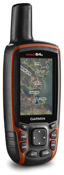 Kartskjermen i GPSMAP 64s