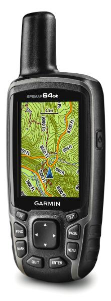 Kartskjermen i GPSMAP 64st