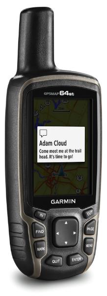 Varslingsskjermen på GPSMAP 64st
