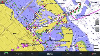 Marine GARMIN GPSMAP8416 16 Multifunksjonsskjerm 194