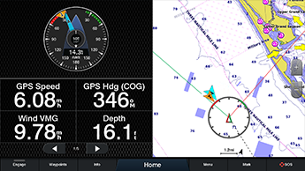 Marine GARMIN GPSMAP 8416xsv 16 full HD og IPSberøringsskjerm 194