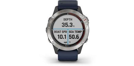 Seilklokke GARMIN Quatix 6 Marine Smartklokke GPS Bluechart g3 puls 0100215891