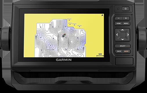 Kartplotter GARMIN ECHOMAP UHD 62cv 6 ClearVü usvinger 0100232900