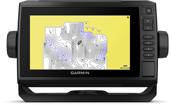 Kartplotter GARMIN ECHOMAP UHD 72cv 7 ClearVü usvinger 0100233300