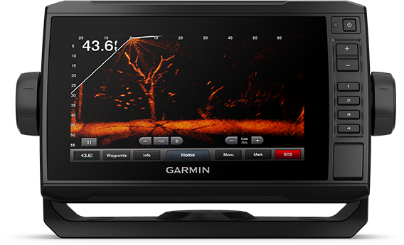 Kartplotter GARMIN ECHOMAP UHD 72cv 7 ClearVü inkl GT24TMsvinger 0100233301