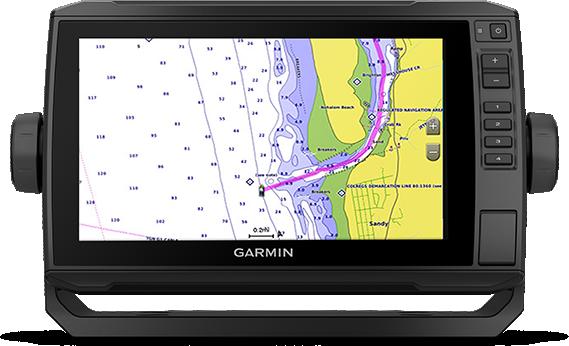 Kartplotter GARMIN ECHOMAP UHD 92sv 9 ClearVü og SideVü usvinger 0100234100