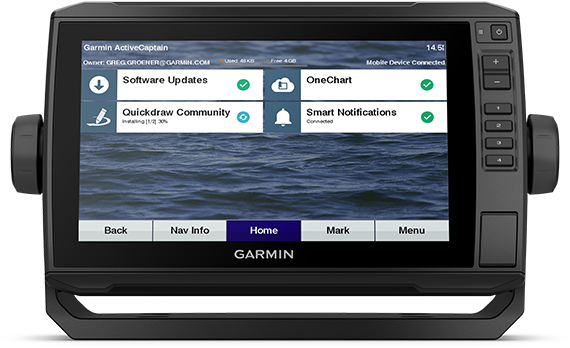 Kartplotter GARMIN ECHOMAP UHD 92sv 9 ClearVü og SideVü inkl GT54TM 0100234101