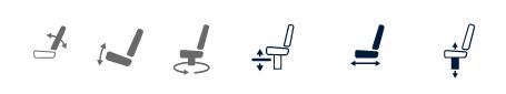 Båtstoler NORSAP 800 Light Skipperstol Stol med glideskinne og stolsøyle 6200