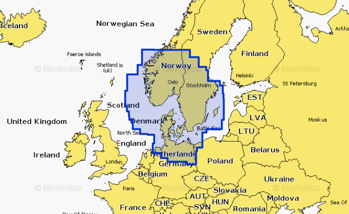 Navionics Sjøkart SDBrikke Valgfrie områder lastes ned R70269